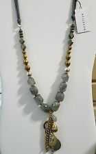 Silpada Ethereal Necklace Sterling Silver, Brass,Agate,Labradorite,Pyrite