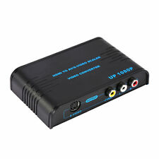 HDMI To AV/S-Video Scaler Video Converter Adapter 1080P HDMI 1.3 HDCP + UK Plug