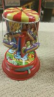 Schylling Rocket Ride Carousel Tin Collectible Wind-up Toys - Collector Series