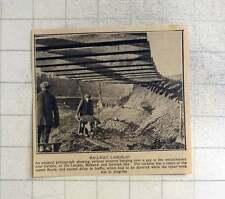 1925 traversine ferroviarie che grava sui GAP CARLISLE Terrapieno a causa delle inondazioni