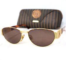 FENDI sunglasses SL 7033 vintage oval gold brown FF zucca 1990's