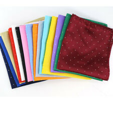 SALE !!! multi Solid Dots 21CM Silk man handkerchief Pocket Square Wedding Party