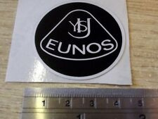 Plastic Badge, Eunos Roadster retro style, 45mm, black silver stick on not Lotus