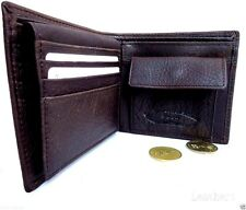 Men's Full Leather Wallet 8 Card Slots 1 id Window 3 Bill Compartments Coin slot