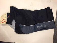 NALINI SHORTS Road Pant, Black w/gray panel, synthetic chamois, size 2 (Small)