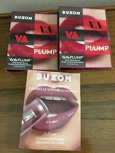 Buxom 2x Plump Up The Volume DOLLY + 2x Va Va Plump WINE ME .05oz each