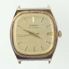 Vintage Timex Watch Movement Mechanical Automatic Runs As Is Day Counter