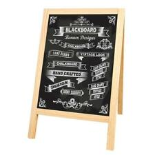 Small Chalkboard Sign, Wooden A-Frame Blackboard Sidewalk Sign with Stand, 7.5