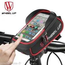 Wheel Up Waterproof Bicycle Front BasketTouch Screen Frame Handlebar Phone Bag