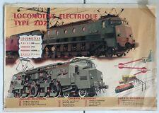 Affiche Originale Locomotive Eléctrique type 2D2 - P. BOUVRY Albert BRENET 1947