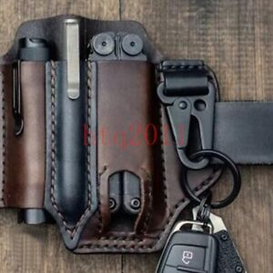 EDC Tool Leather Sheath for Leather man Multitools Tactical Knives Flashlights