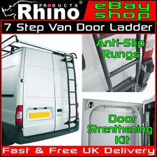 Ford Transit Rear Door Ladder 7 Step Anti Slip Roof Rack Rhino 2014-2019 Van