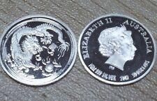 Lunar 2012 año del dragón year of the Dragon 999 monedas de plata/medaillien
