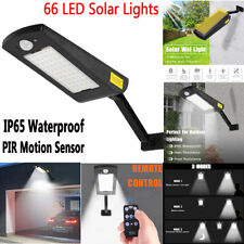 66 LED Solar Lights Outdoor Waterproof PIR Motion Sensor Garden Yard Wall Lamp
