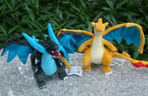 2Pcs Charizard Mega Shiny X Y Plush Toys Dragon Stuffed Toy Cartoon Soft Doll