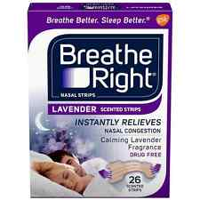 Breathe Right Scented Nasal Strips, Lavender 26 ea (Pack of 5)