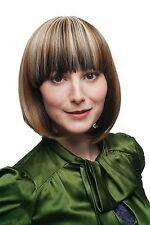 Perruque de cheveux courts femme carré PONY Marron Blond Châtaigne platine méché