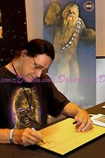 STAR WARS Actors Signed Peter Mayhew Warwick Davis Disney Jedi Mickey Mouse Cel