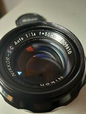 Nikon Nikkor 50mm 1:1.4 manal lens. Great condition