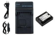 Batteria + Caricabatteria BP-709 con INFOCHIP per Canon LEGRIA HF R306, R406