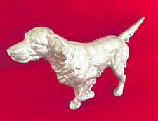Vintage Hubley Cast Aluminum English Setter Pointer Doorstop