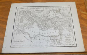 1822 Antique Map///GREEK EMPIRE