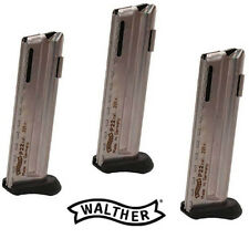 Walther Factory P22 Q-Style .22 LR 10-Round Magazines (3-Pack) - Nickel  #512604
