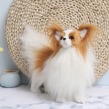 Simulation Dog Toy Plush Papillon Poodle Doll Stuffed Animal Kids Gift