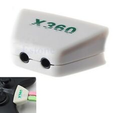 Earphone Headphone Headset Mic Converter Adapter For Xbox 360 Controller