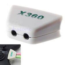 Earphone Headphone Headset Mic Converter Adapter For Xbox 360 Controller