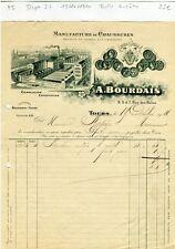 Dépt 37 - Tours 3 à 7 Rue des Halles - Belle Entête d'une Manufacture de 1911