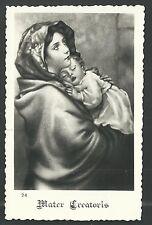 Estampa antigua de Madonna del Riposo andachtsbild santino holy card santini