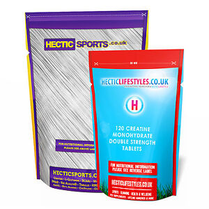 CREATINE MONOHYDRATE - 1000mg x 120  EXTRA STRENGTH TABLETS