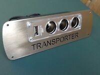 Vw T4 T25 T5 transporter camper van  dash 3 way USB cigarette socket Unit