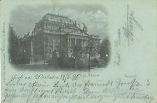Wiesbaden, Kgl. Theater, alte Mondscheinkarte von 1898