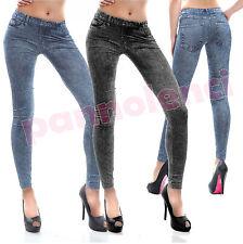 Leggings pantaloni effetto jeans leggins pantacollant donna nuovi DL-245