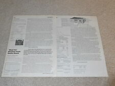 Realistic STA-2200 Receiver Review, 2 pgs, 1980, Specs