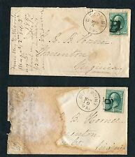 """TWO 1883 #158 covers ea. w/black """"CITY POINT VA FANCY """"B"""" Cancels:  MAR 3 and 10"""