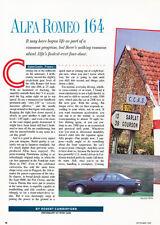 1991 1990 Alfa Romeo 164 -  Classic Car Original Print Article J80