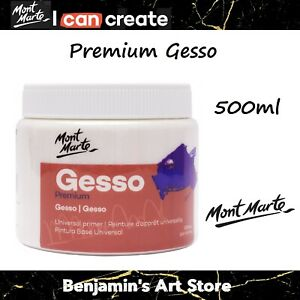 AU Mont Marte White Gesso Universal Primier 500ml Non-Toxic Art Supply