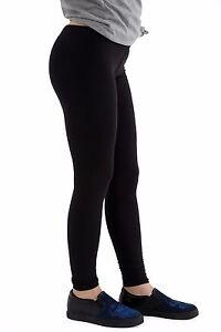 WOMEN LADIES FULL LENGTH STRETCH PLAIN LEGGINGS PLUS SIZES 45% COTTON
