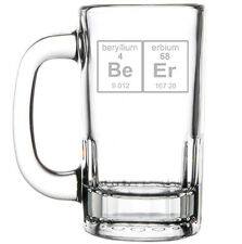 12oz Beer Mug Stein Glass Funny Funny Geek Beer Periodic Table
