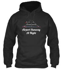 Airport Runway At Night - Standard College Hoodie
