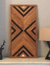 Rustic Wooden Wall Art, Tribal, Aztec, Geometric, Mosaic, Farmhouse, Boho Wood