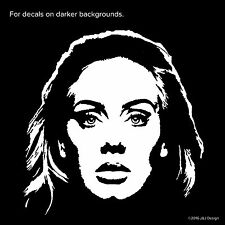 Adele Laurie Blue Adkins English Music Singer Songwriter Car Decal Sticker White