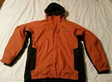 THE NORTH FACE MENS TRICLIMATE 3 IN 1 JACKET/COAT WEATHERPROOF HYVENT ORANGE/BLK