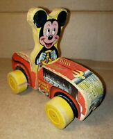 Vintage Fisher Price Mickey Mouse Puddle Jumper Child's Pull Toy #310 Disney