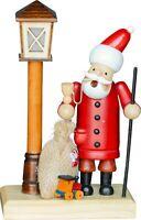 "German Christmas smoker "" Santa Claus is standing by the lantern"" .. illuminate"