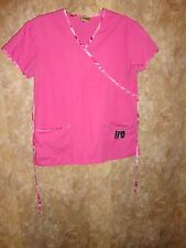 M-A-S-H 4077 PINK SCRUB TOP SIZE S (2 POCKETS) TIES IN BACK STYLE: 2902