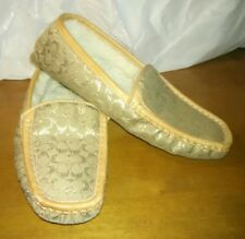COACH Women's Monica Shearling Moccasin Slipper Shoes-Size 6M-#P236